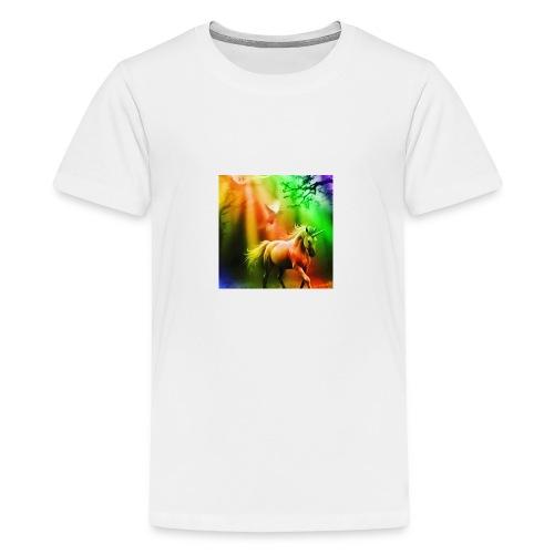 SASSY UNICORN - Teenage Premium T-Shirt