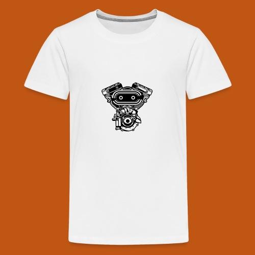 Motorrad Motor / Engine 02_schwarz - Teenager Premium T-Shirt