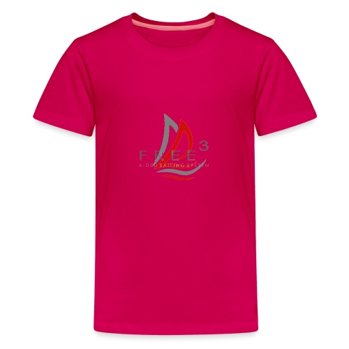 Free3 Aided Sailing System - Maglietta Premium per ragazzi