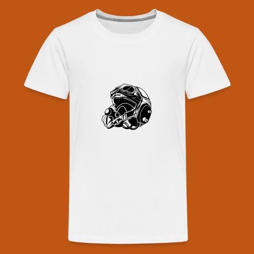 Pilotenhelm / Pilot Helmet 01_schwarz - Teenager Premium T-Shirt