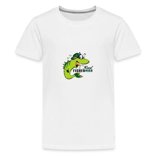 10-38 REAL FISHERMAN - TODELLINEN KALASTAJA - Teinien premium t-paita