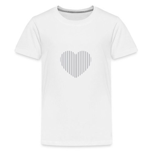 heart_striped.png - Teenage Premium T-Shirt