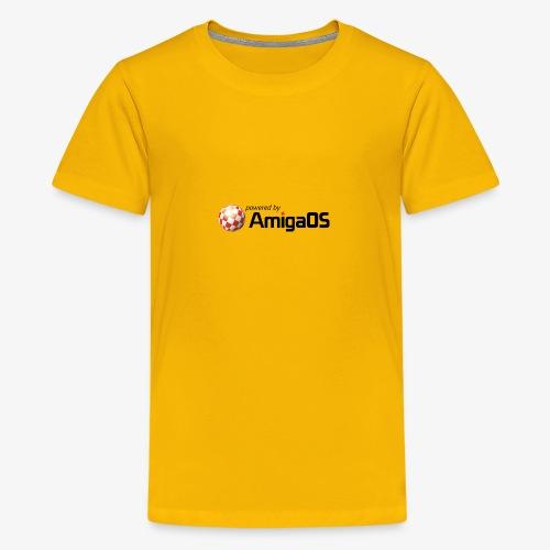 PoweredByAmigaOS Black - Teenage Premium T-Shirt