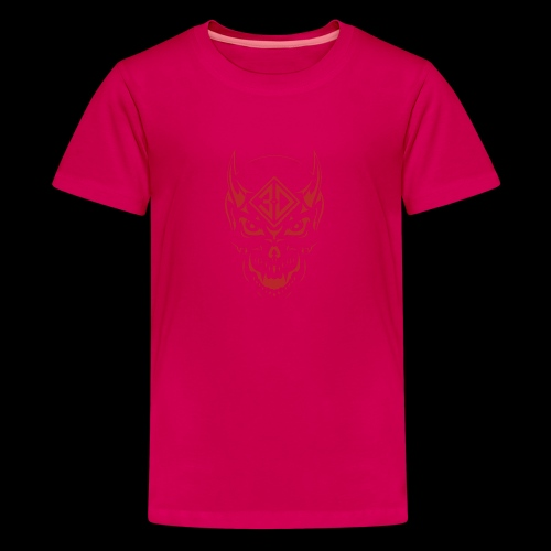 devil skull red - T-shirt Premium Ado