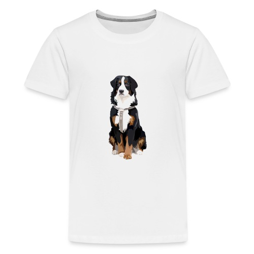 Freja sitter framifrån - Premium-T-shirt tonåring