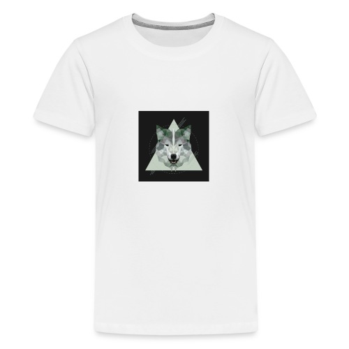 Geo wolf - Teenage Premium T-Shirt