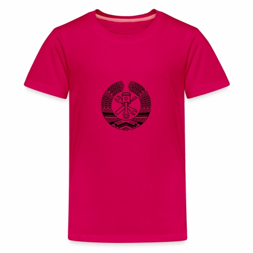 DDR Tuning Coat of Arms 1c (+ Your Text) - Teenage Premium T-Shirt