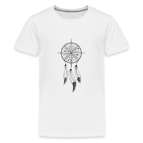 KOMPASS - TRAUMFÄNGER - FEDERN - Teenager Premium T-Shirt