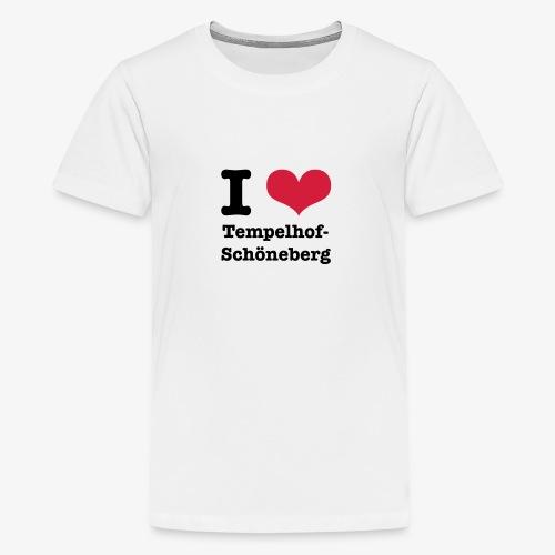 I love Tempelhof-Schöneberg - Teenager Premium T-Shirt