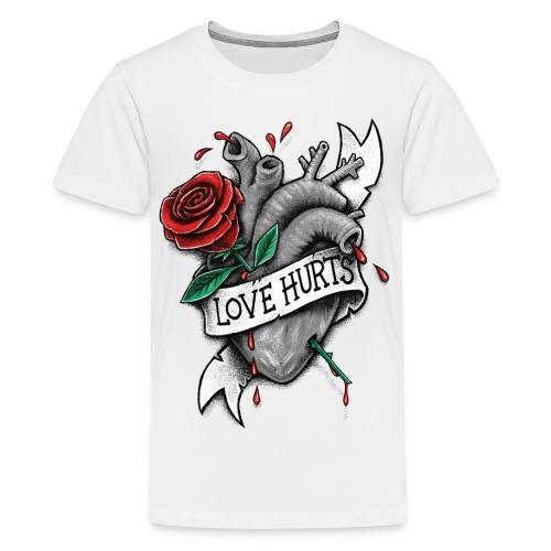Love Hurts - Teenage Premium T-Shirt