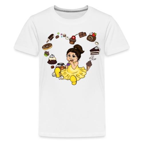 Schokoline und ihr süßer Traum - Teenager Premium T-Shirt