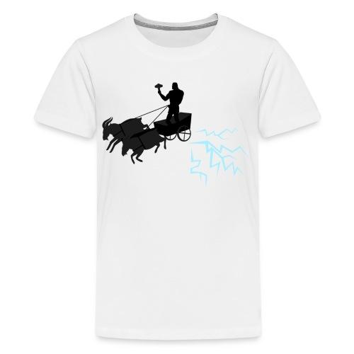 Åktor blå - Premium-T-shirt tonåring