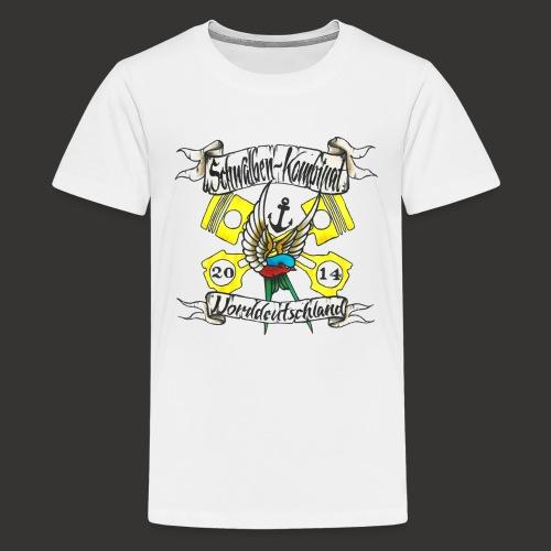 LOGO-SKN14 schwarz - Teenager Premium T-Shirt