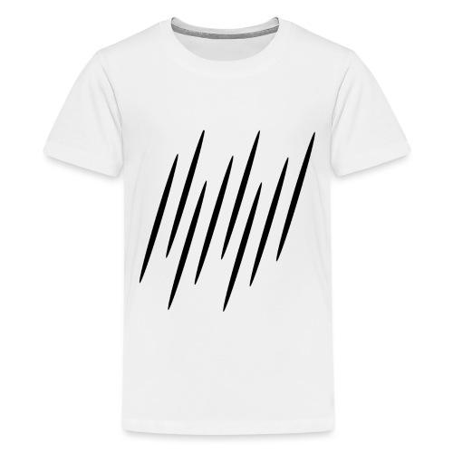 Kleine Schwarze Streifen - Teenager Premium T-Shirt