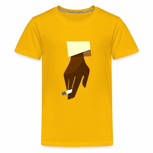 Hand mit Kippe - Teenager Premium T-Shirt