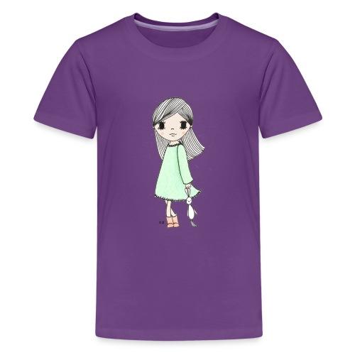 meisje met knuffel - Teenager Premium T-shirt