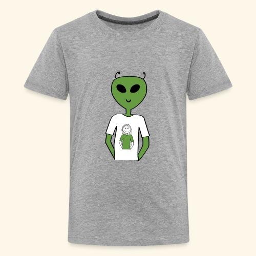 Alien human T-shirt T-shirt - Premium-T-shirt tonåring