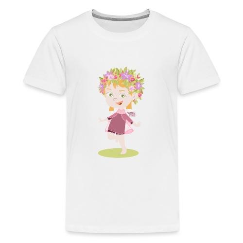 Danser sous le soleil de minuit en Finlande - T-shirt Premium Ado