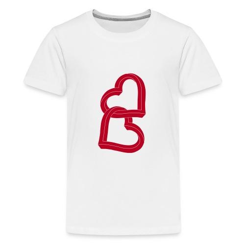 Due cuori uniti ca27 - Maglietta Premium per ragazzi
