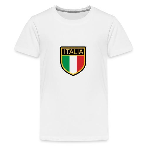 SCUDETTO ITALIA CALCIO - Maglietta Premium per ragazzi