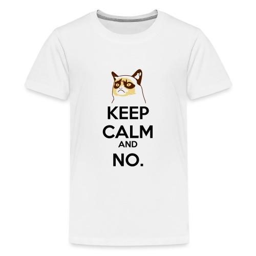 Grumpy Cat Keep Calm - Maglietta Premium per ragazzi