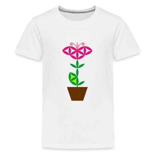 The Flower Of Life - Sacred Plants. - Teenage Premium T-Shirt