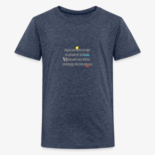 Versinho de infancia - Teenage Premium T-Shirt
