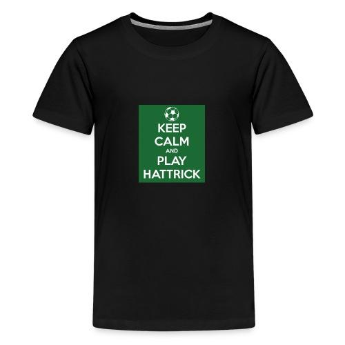 keep calm and play hattrick - Maglietta Premium per ragazzi