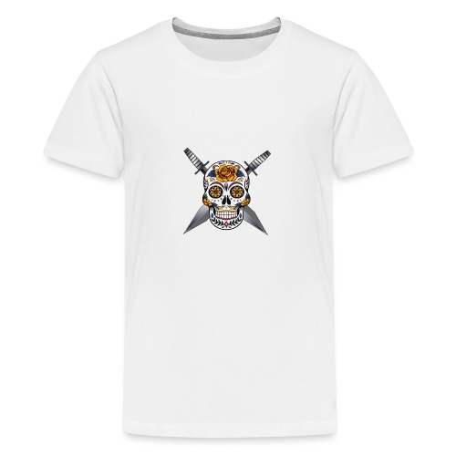 Cross skull swords - T-shirt Premium Ado