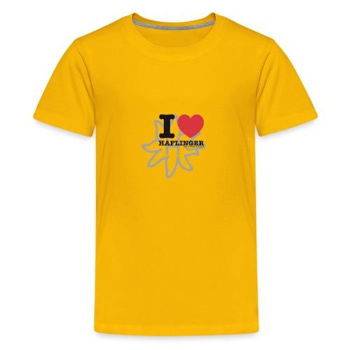 I love Haflinger - Teenager Premium T-Shirt