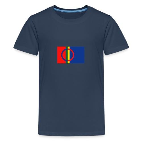 Samiska flaggan - Premium-T-shirt tonåring
