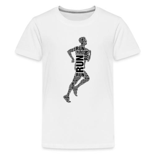 runner running - Teenage Premium T-Shirt