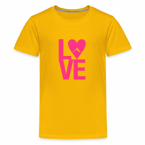 Mountain Love - Teenager Premium T-Shirt