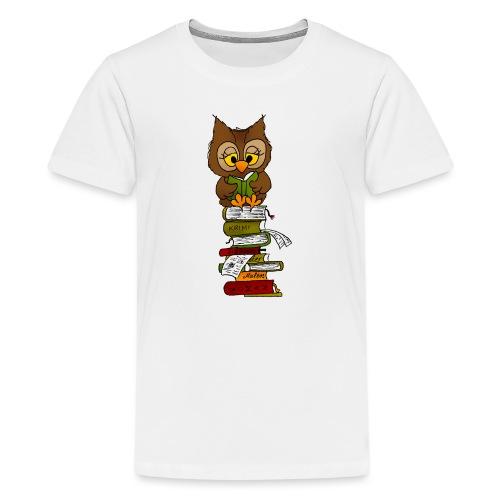 Büchereule Leseeule - Teenager Premium T-Shirt