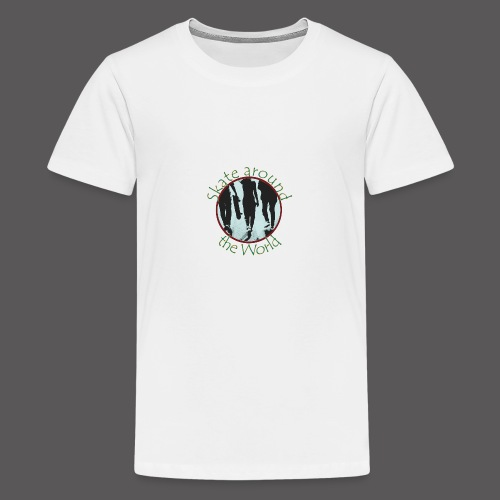 Skate around the World - Teenager Premium T-Shirt