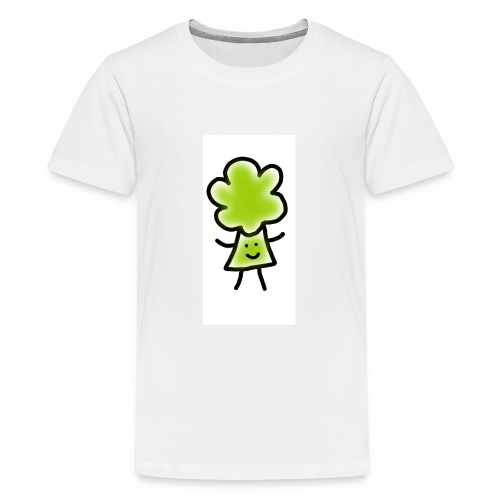 Brocoli Sketch - Teenage Premium T-Shirt