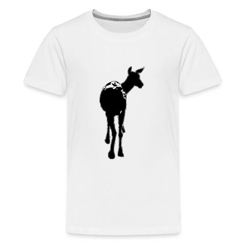 Reh deer Hirschkuh Silhouette - Teenager Premium T-Shirt