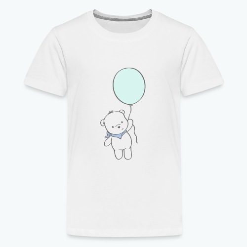 Bär mit Ballon - Teenager Premium T-Shirt