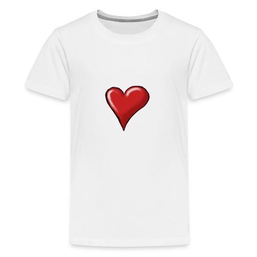 Love (coeur) - T-shirt Premium Ado