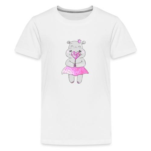Happy Hippo - Teenager Premium T-Shirt