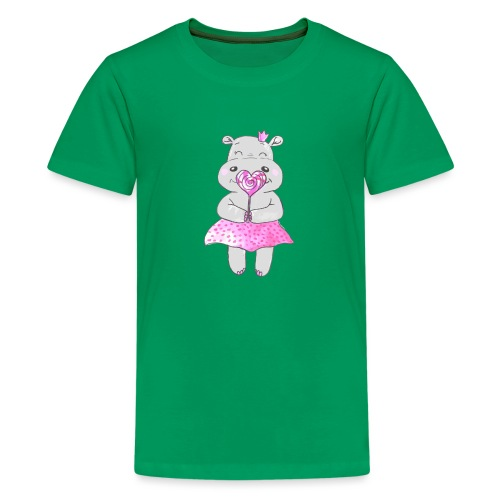 Happy Hippo - Teenager Premium T-Shirt
