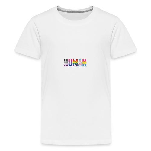 HUMAN - Rainbow - Teenager Premium T-Shirt