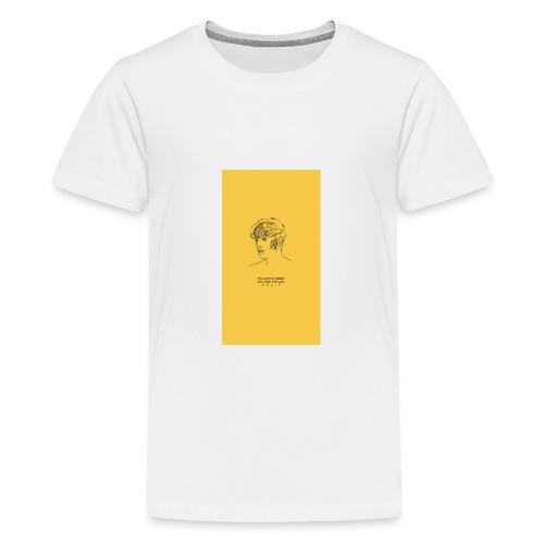 Yellow Boy Art - Teenage Premium T-Shirt