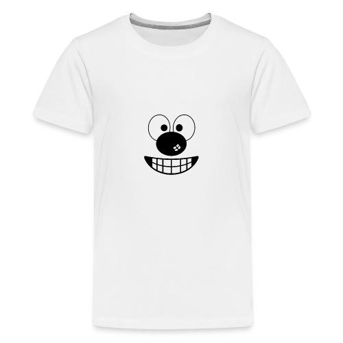 Funny cartoon face - Teenage Premium T-Shirt