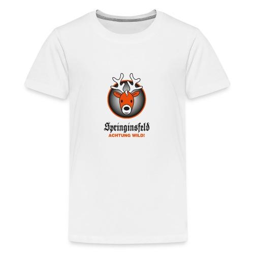 Achtung wild! for white - Teenager Premium T-Shirt