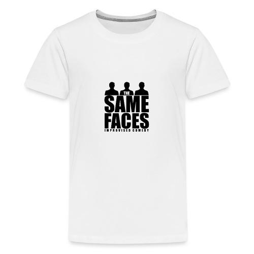 Same Faces Logo - Black - Teenage Premium T-Shirt