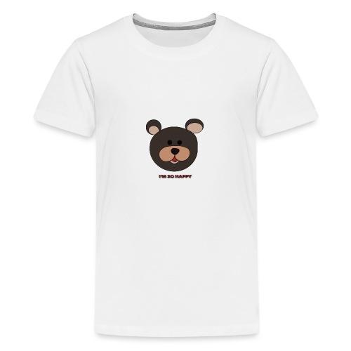 Oso feliz - Camiseta premium adolescente