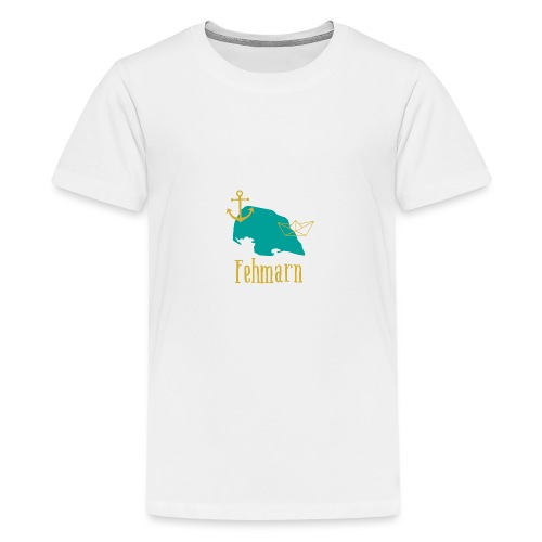 Fehmarn türkis gold Anker Boot - Teenager Premium T-Shirt