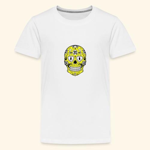 CALAVERA AMARILLA - Camiseta premium adolescente