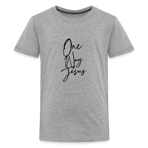 one way jesus - Camiseta premium adolescente